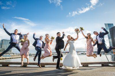Andy & Linda's Melbourne Docklands Wedding | MAIA Reception