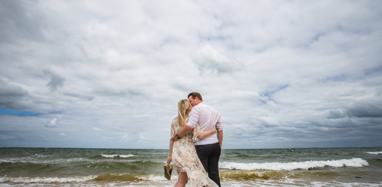Luke & Emily's First Wedding Anniversary Portraits | Brighton Beach