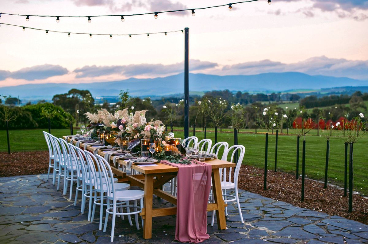 Vines of the Yarra Valley table setting