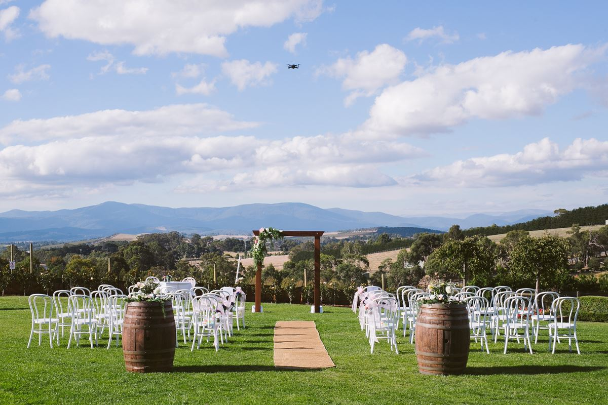 vines of the yarra valley ceremony setup